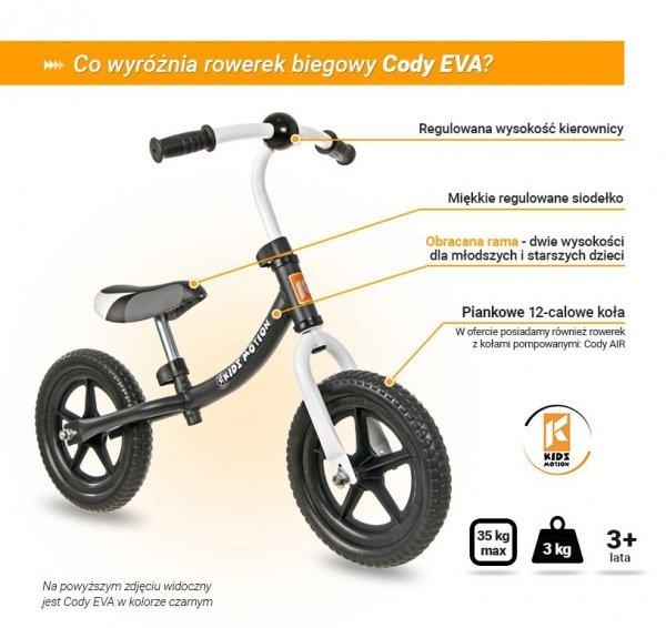 Rowerek biegowy Cody EVA - czarny