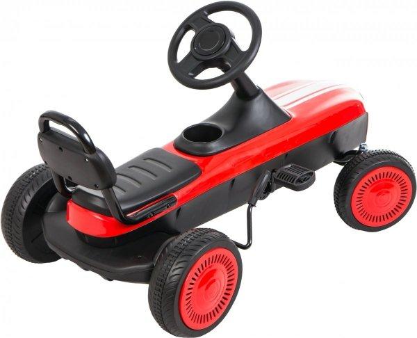 Gokart na pedały RETRO - jeździk dla dzieci 3-8 lat - biały