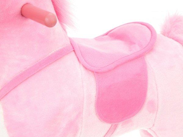 Koń na biegunach - duży 70 cm - różowy