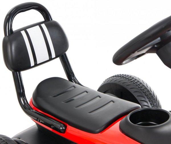 Gokart na pedały RETRO - jeździk dla dzieci 3-8 lat - czerwony