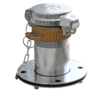 Króciec wlewowy 2` z eurozłączem VK50 na wysokości ok. 150 cm, szczelne połączenie z cysterną, napełnianie zbiornika jest zgodne z obowiązującymi przepisami BHP oraz wymaganiami ochrony środowiska