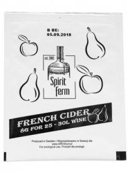 DROŻDŻE DO CYDRU FRENCH CIDER NA 30 LITRÓW WINA