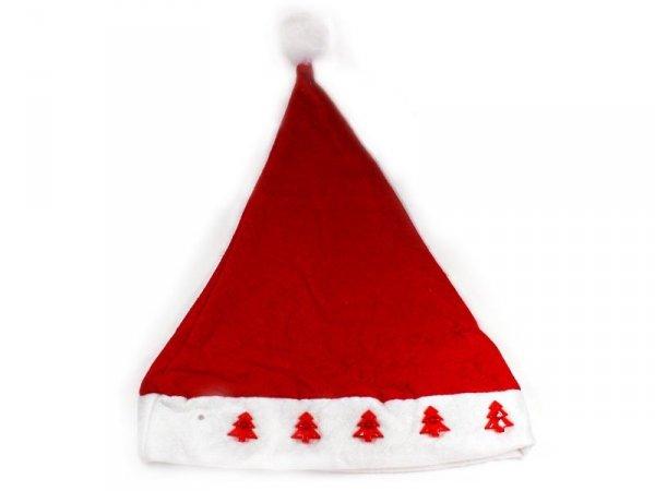 5856 CZAPKA MIKOŁAJA ŚWIECĄCA CHOINKI Świąteczna Hurt