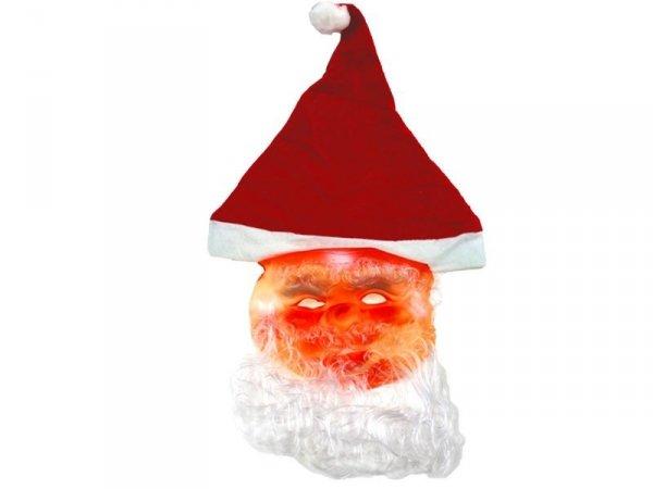 4132 CZAPKA MIKOŁAJA MASKA Mikołaj Mikołajki Święta