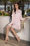 L240 Zwiewna sukienka pudrowy róż