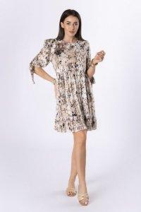 sukienka z wiązaniem przy mankiecie