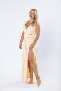 sukienka maxi z kopertowym dekoltem M74356_1