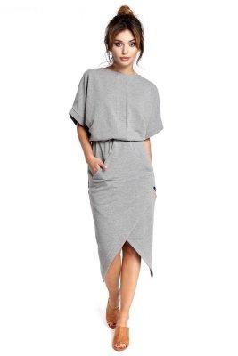 B029 sukienka szara