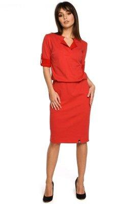 B056 sukienka czerwona