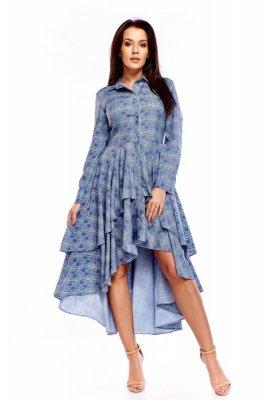 Asymetryczna sukienka w kratkę