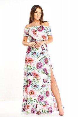 Suknia maxi w kwiatowe wzory M68026_1