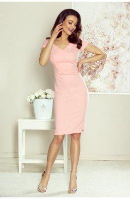 Ołówkowa sukienka - różowa