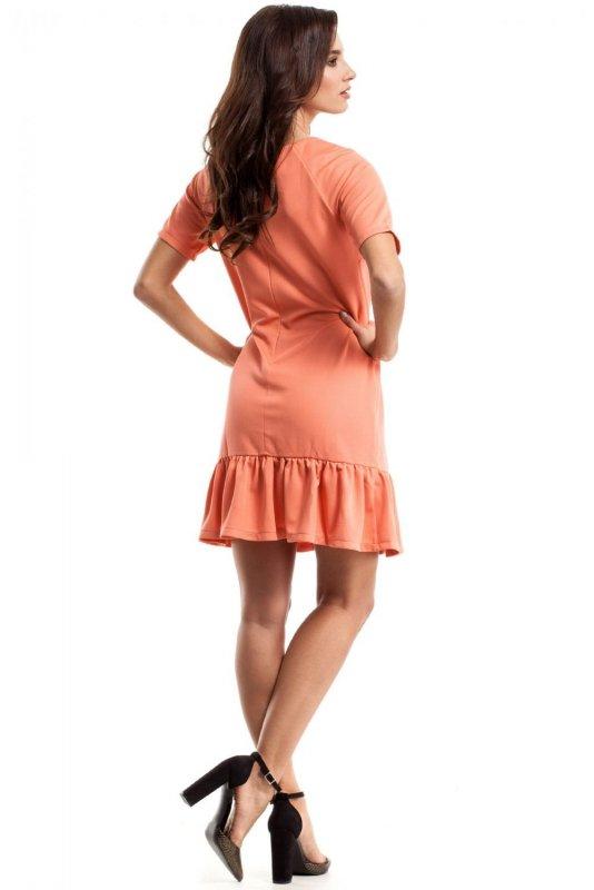 M282 Sukienka koralowa