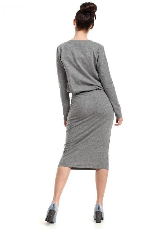 B024 sukienka szara