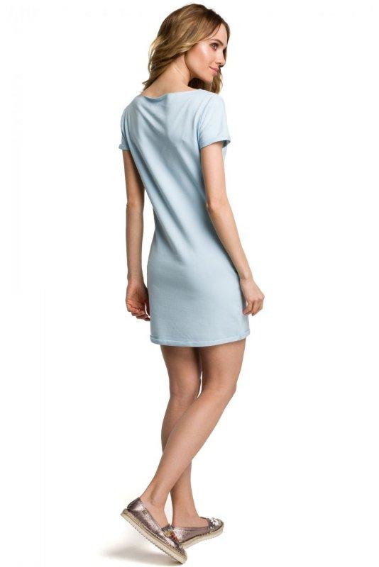 M374 Sukienka błękitna