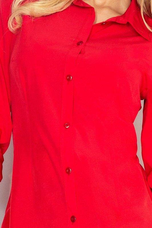 MM 017-1 Prosta koszula z GUZIKAMI - CZERWONA