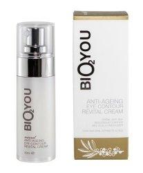 BIO2YOU rewitalizujący krem przeciwzmarszczkowy pod oczy z kolagenem, kwasem hialuronowym, aloesem, olejem kokosowym  żeń-szeniem i rokitnikiem 30 ml