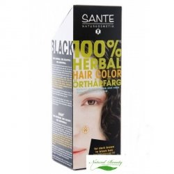 Sante Roślinna farba do włosów w proszku SCHWARZ / czarna