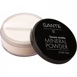 SanteNaturkosmeyik  Matujący puder mineralny sypki 02 Sand (Piasek)