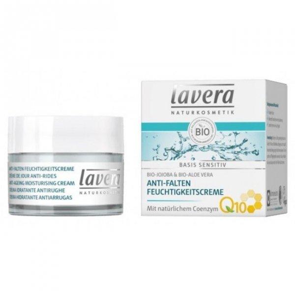Lavera BASIS SENSITIV Nawilżający krem anti-aging z bio-aloesem i koenzymem Q10 50 ml
