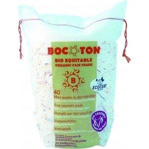 Bocoton Ekologiczne płatki kosmetyczne - owalne maxi - 40szt