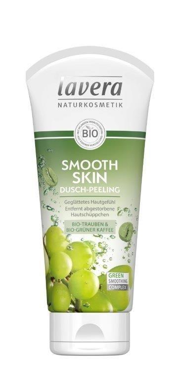 Lavera Wygładzający peeling pod prysznic pod prysznic z bio-winogronami i bio-zieloną kawą 200 ml