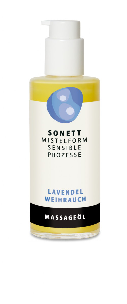 Sonett Olejek do ciała i masażu Lawenda Kadzidłowiec, z rytmizowanym ekstraktem z jemioły