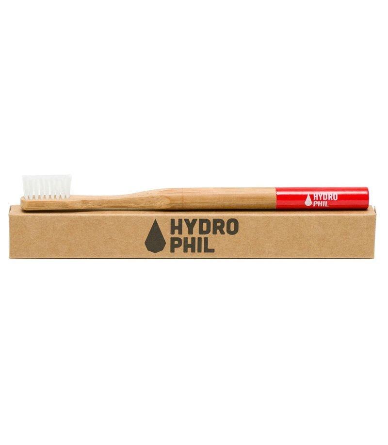 Hydrophil Ekologiczna szczoteczka do zębów ŚREDNIA czerwona