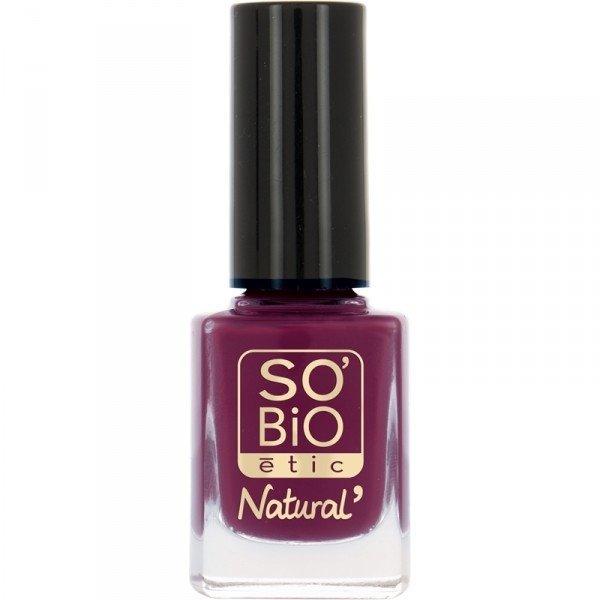 SO BIO Naturalny lakier do paznokci  05 VIOLET Głęboka Purpura z bio-olejem rycynowym bio 10 ml