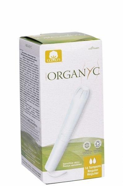 Organyc ekologiczne tampony regular z aplikatorem z bio bawełny 16 szt
