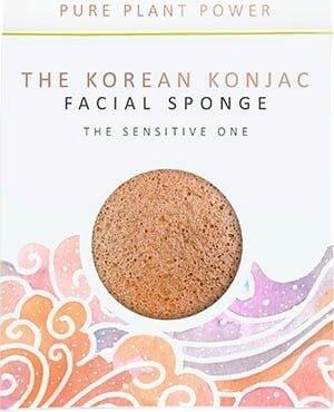 Gąbka Konjac Premium The Elements - Powietrze z różową glinką i rumiankiem do cery wrażliwej