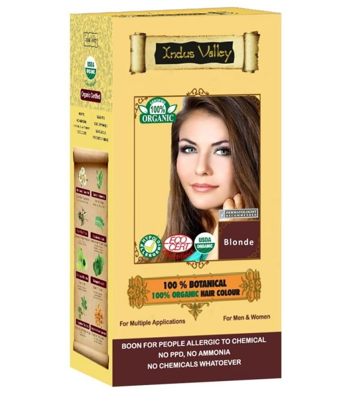 Indus Valley Henna - Ziołowa farba z henną Blond 120 g