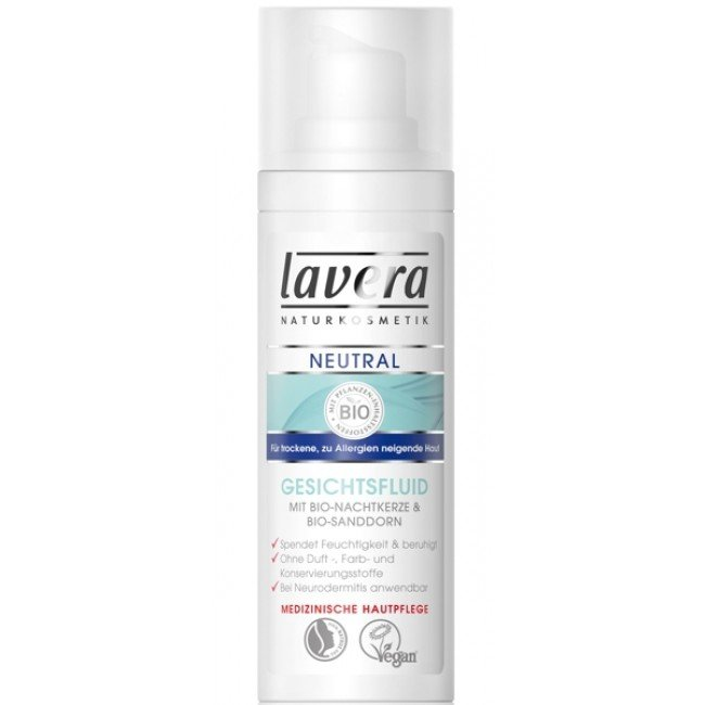 Lavera NEUTRAL fluid do twarzy z wyciągiem z biowiesiołka i biorokitnika 30 ml