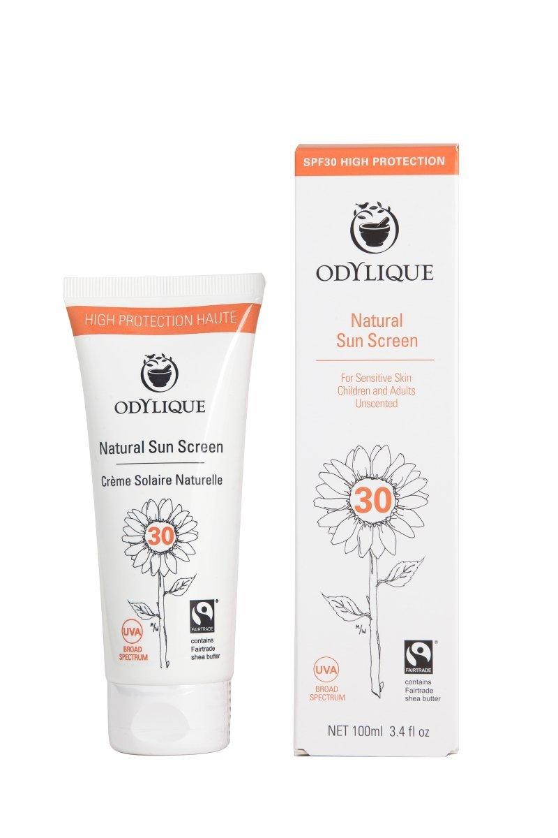 Odylique by Essential Care organiczny hipolaergiczny krem przeciwsłoneczny do twarzy i ciała z filtrem mineralnym SPF 30, 100 ml