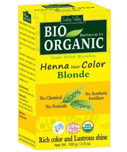 Indus Valley  farba do włosów na bazie henny Blond 100g