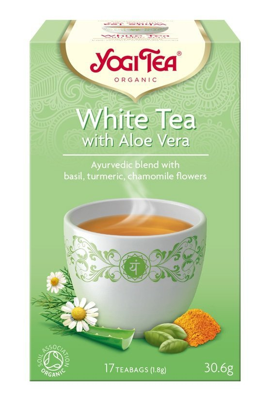 Yogi Tea Herbata biała z aloesem WHITE TEA WITH ALOE VERA