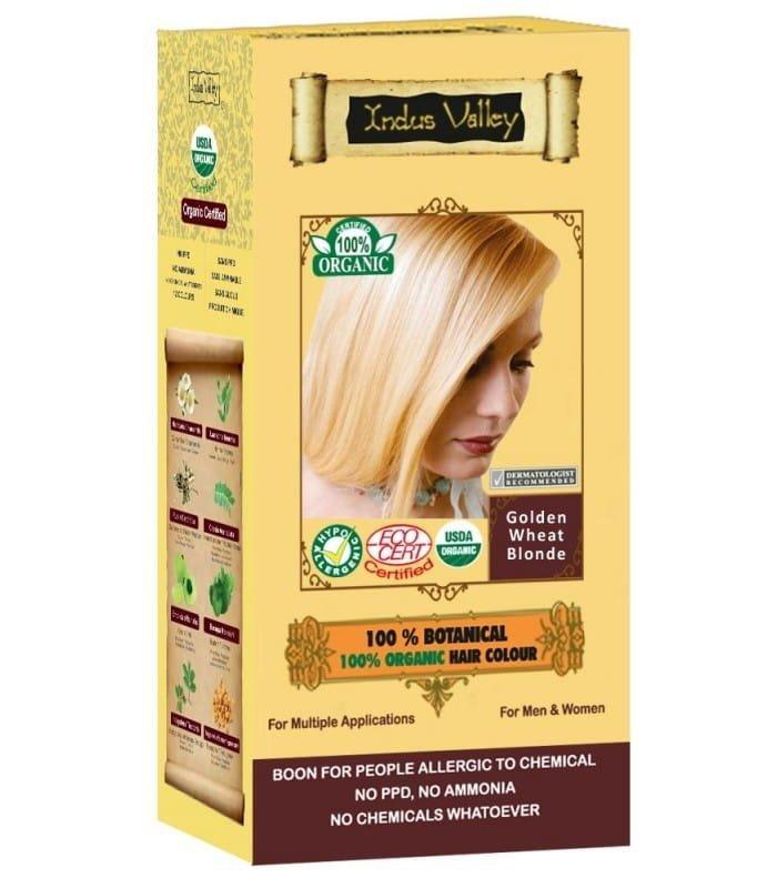 Indus Valley Henna - Ziołowa farba z henną Złocisty Blond 120 g