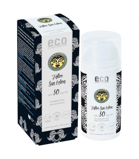 Eco cosmetics  Emulsja na słońce SPF 30 dla skóry z tatuażami z ekstraktem z noni