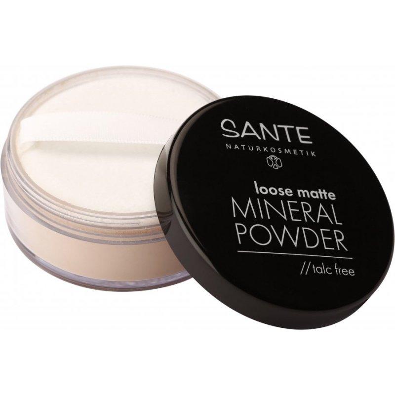 Sante Naturkosmetik Matujący puder mineralny sypki 02 Sand (Piasek)