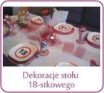 Dekoracje stołu 18-stkowego