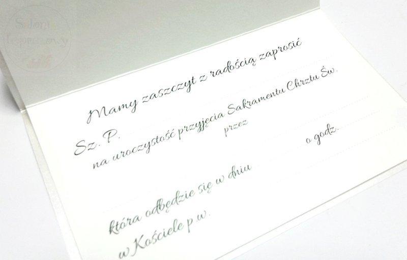 Kieliszki ślubne Zaproszenie Na Chrzest święty Ręcznie Robione Dla