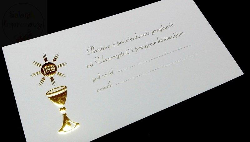 Kieliszki ślubne Zaproszenie Ręcznie Robione Na Komunię 1 Szt Sklep