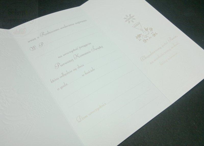 Kieliszki ślubne Zaproszenie Komunijne Dla Babci I Dziadka 1szt