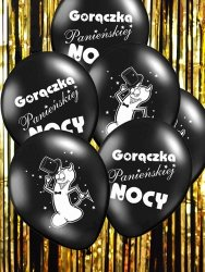 Balony 14 cali wieczór panieński czarne 1 szt