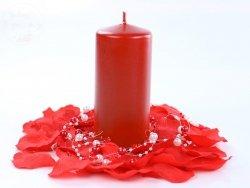 Świeca  klubowa czerwona matowa - 1 szt