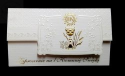Zaproszenie na I Komunię Świętą ELEGANCE 1szt