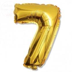 Balon foliowy złoty 40 cm - 7