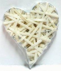 Serce ratanowe płaskie 13 x 16 cm