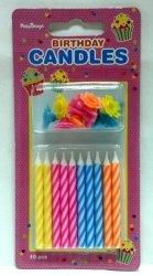 Świeczki urodzinowe mix kolor 10 szt