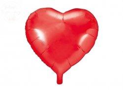 Balon foliowy serce 45 cm czerwony
